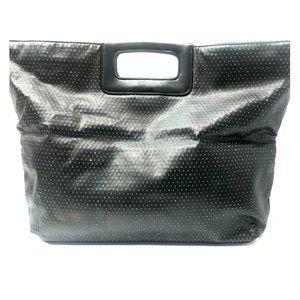 Victoria's Secret black sparkle tote bag